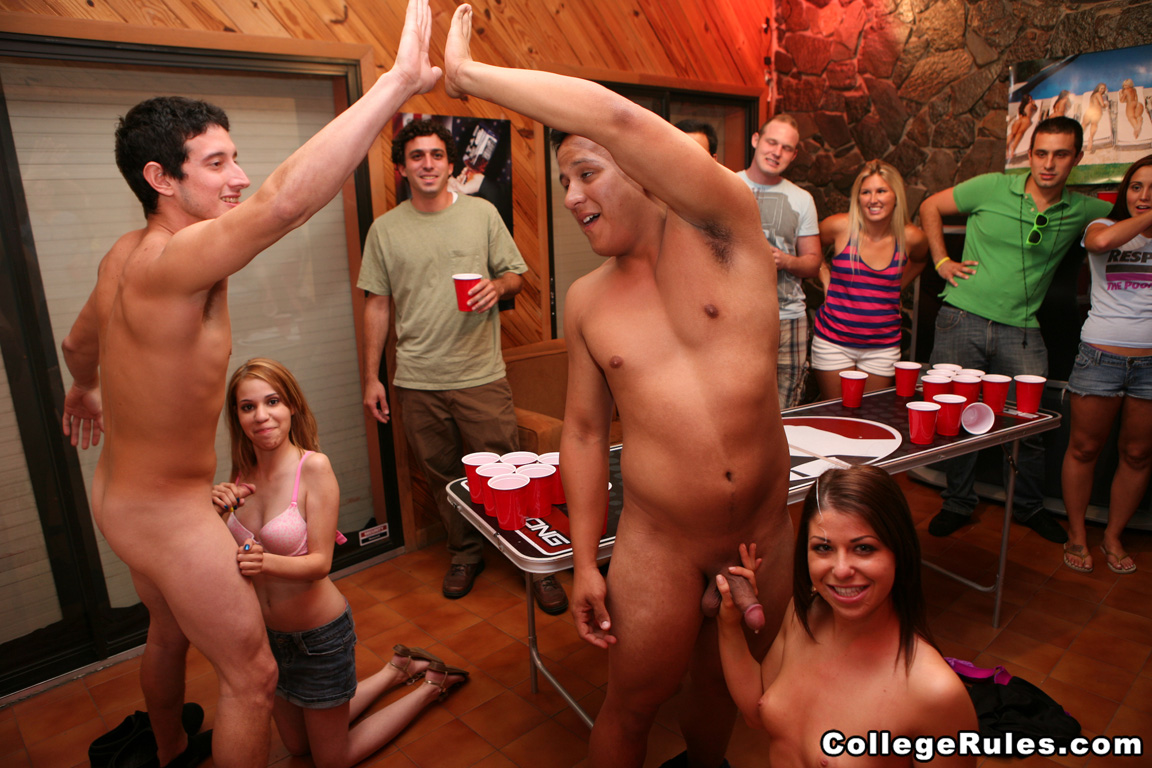 Naked female college party gif